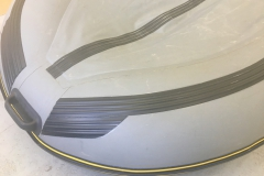 Усиление по баллонам и ремонт прокола с закрытием лентой ПВХ